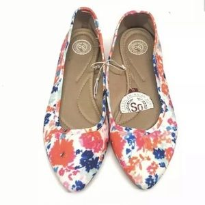 SO Floral Ballet Flats Size 10 New